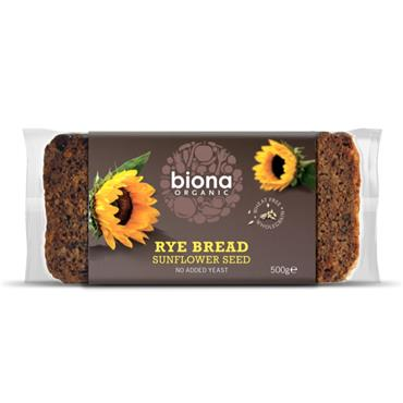 Biona Organic Rye bread with Sunflower Seeds 500g