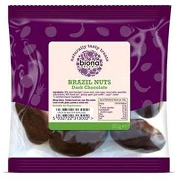 Biona Organic Dark Chocolate Brazils 80g