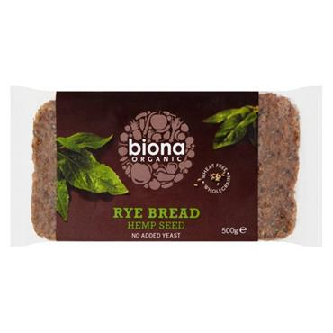 Biona Organic Rye Hempseed Bread 500g