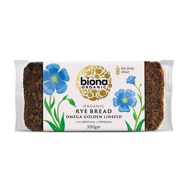 Biona Organic Rye Linseed Bread 500g