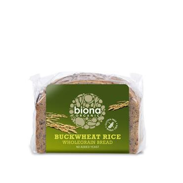 Biona Organic Buckwheat & Rice Wholegrain Bread 250g