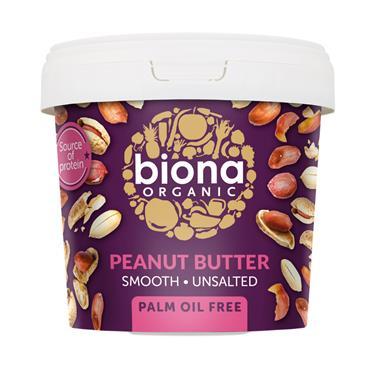 Biona Organic Smooth Peanut Butter 1kg