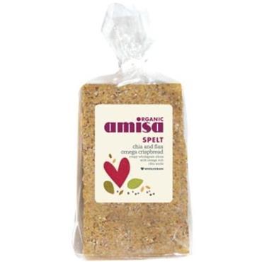 Amisa Organic Spelt Chia and Flax Omega Crispbread 200g