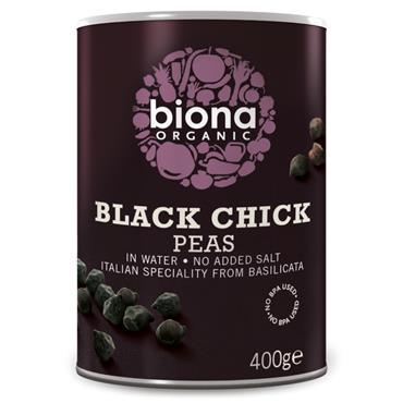 Biona Organic Black Chick Peas 400g