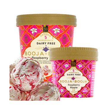 Booja-Booja Raspberry Ripple 110ml Ice Cream