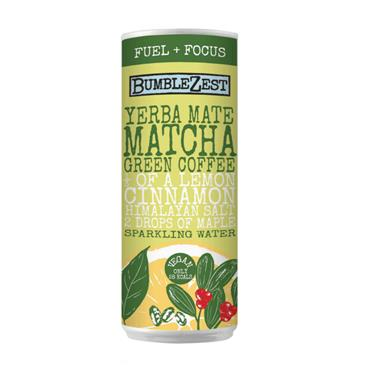 Bumblezest Yerba Mate, Matcha & Green Coffee Sparkling Water 250ml