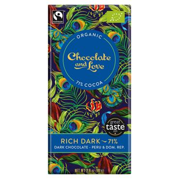 Chocolate and Love Organic Dark 71% 80G