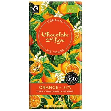 Organic Dark Orange Chocolate 80g.