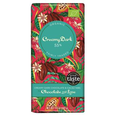 Chocolate and Love Org Dark Chocolate with Nibs 80g