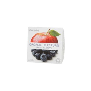 Clearspring Organic Apple & Blueberry Fruit Purée 200g