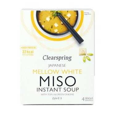 Clearspring Instant Mellow-White Miso Soup with Tofu 40g