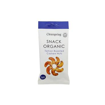 Clearspring Organic Tamari Roasted Cashew Nuts 30g