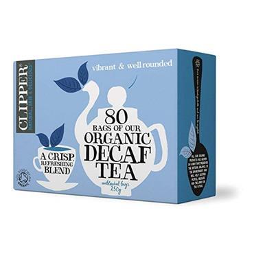 CLIPPER Tea Organic Decaffeinated TEA 80s