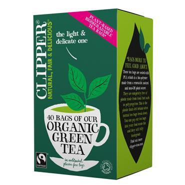 CLIPPER ORG GREEN TEA 40s^^