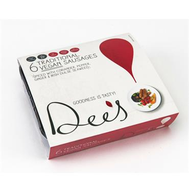Dee's Traditional Vegan Sausages 210g 6s