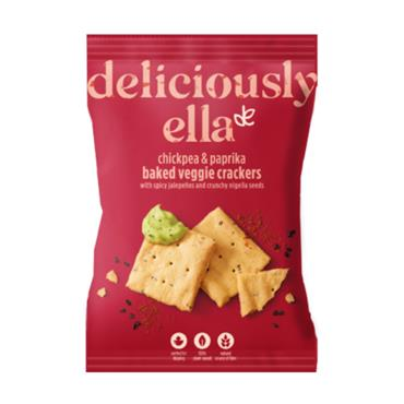 Deliciously Ella Baked Veggie Crackers Spiced Paprika & Chickpea 100g