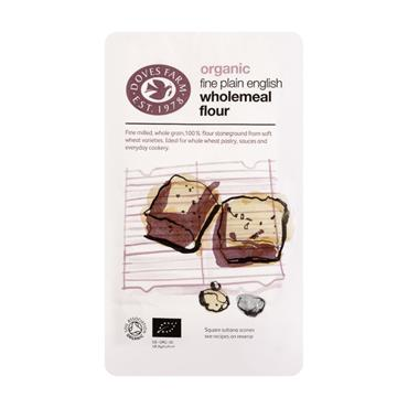Doves Farm Organic Fine Plain Wholemeal Flour 1kg