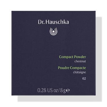 Dr Hauschka New Compact Powder - 02 Chestnut 8g