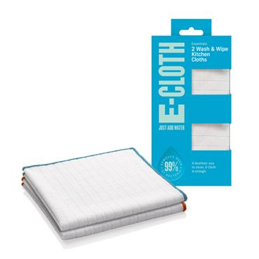E-Cloth Wash & Wipe Kitchen Cloth Pack 2s