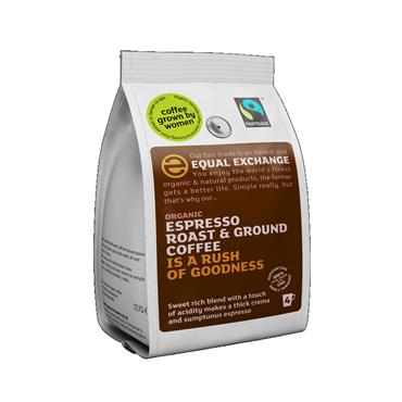Equal Exchange Organic Espresso Roast Ground Coffee 227g