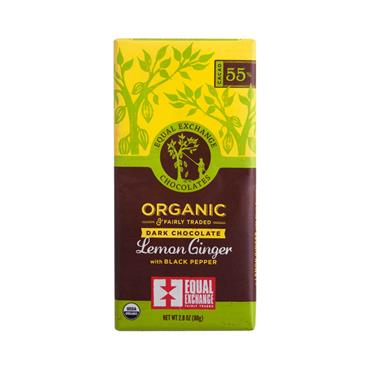 Equal Exchange 55% Chocolate Lemon & Ginger & Pepper 100G