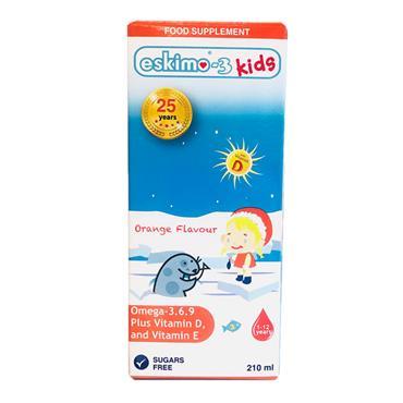 Eskimo Omega 3-6-9 Fish Oil Kids Orange 210ml