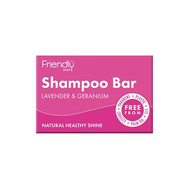 Friendly Shampoo Bar 95G Geranium & Lavender