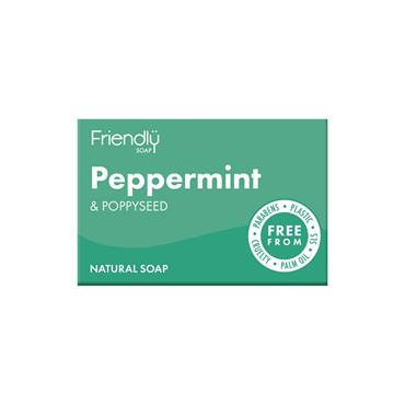 Friendly Peppermint & Poppy Seed Soap Bar 95g