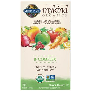 Garden of Life mykind Organic Vitamin B Complex 30s