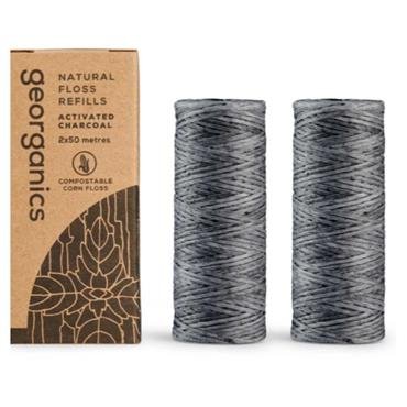 GEORG CHARCOAL FLOSS REFILL 50mtrs