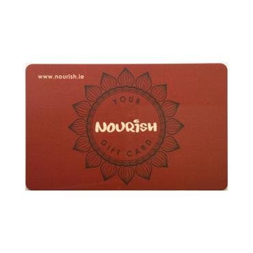 "Give a Nourish ""Gift Card"" for Christmas or for Birthdays!"