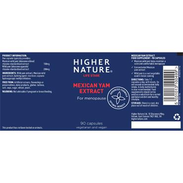 Higher Nature Mexican Wild Yam Capsules 90s