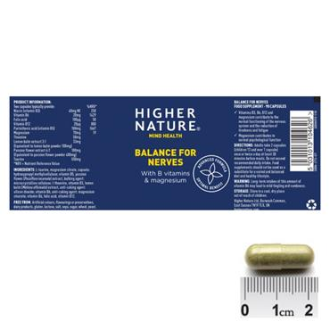 Higher Nature Balance For Nerves Capsules 30s