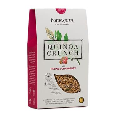 Homespun Quinoa Crunch Pecan & Cranberry 275g