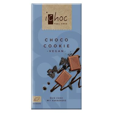 iChoc Choco Cookie Vegan Chocolate 80g