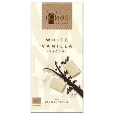 iChoc White Vanilla Vegan Chocolate 80G