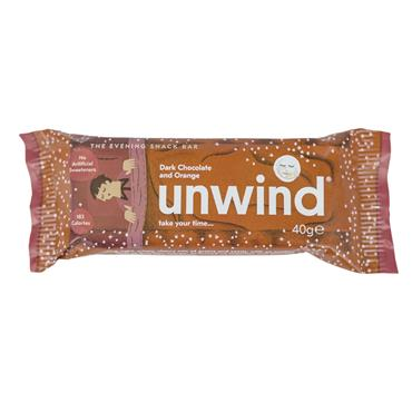 UNWIND Dark Chocolate & Orange Bar 40g