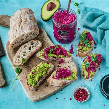 The Cultured Food Company Organic Ruby Red Sauerkraut 400g