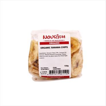 Nourish Organic Banana Chips 100g
