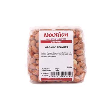 Nourish Organic Peanuts 250g