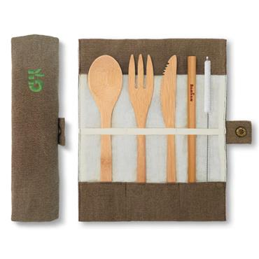 Bambaw Cutlery Set for on the Go -Olive