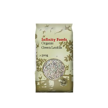 Infinity Organic Green Lentils 500g