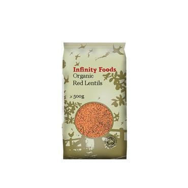 Infinity Organic Red Lentils 500g