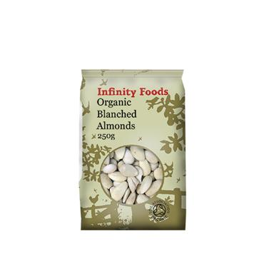 Infinity Organic Blanched Almonds 125g