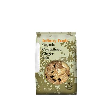 Infinity Organic Crystallised Ginger 125g