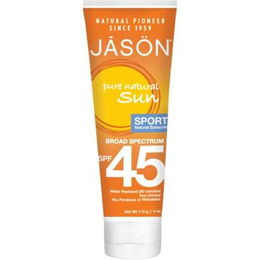 Jason Sport Natural Sun Cream SPF 45 113g