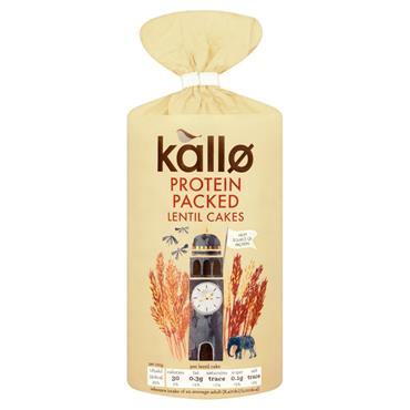 Kallo Organic Protein Packed Lentil Cakes 100g