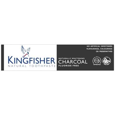 Kingfisher Naturally Whitening Charcoal Fluoride Free Toothpaste