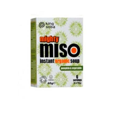 King Soba Organic Mighty Miso Instant Soup with Pumpkin & Vegetable 6 x 10g