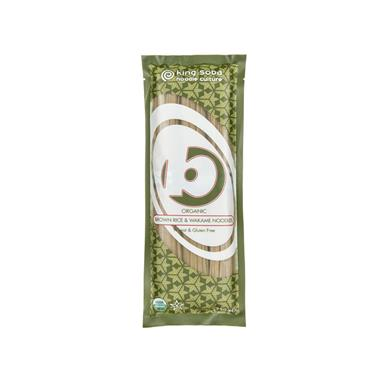 King Soba Organic Brown Rice & Wakame Noodles 250g